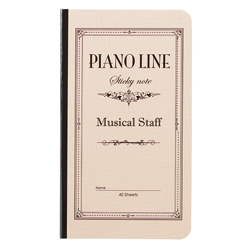Piano line ブック型付箋 ※お取り寄せ商品 【音楽雑貨 音符・ピアノモチーフ】ト音記号 ピアノ雑貨c