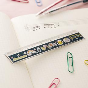 Music line 15cm定規 ※お取り寄せ商品 【音楽雑貨 音符・ピアノモチーフ】ト音記号 ピアノ雑貨c