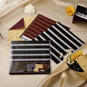 Piano line ラッピングちよ紙 ※お取り寄せ商品 引き出物 記念品 音楽雑貨 音符 ピアノモチーフ ト音記号 ピアノ雑貨