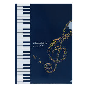 Piano line クリアファイル ハミング ※お取り寄せ商品 引き出物 記念品 音楽雑貨 音符 ピアノモチーフ ト音記号 ピアノ雑貨