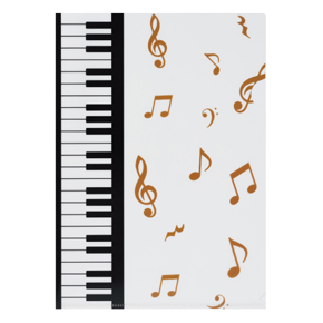 Piano line クリアファイル マーチ ※お取り寄せ商品 引き出物 記念品 音楽雑貨 音符 ピアノモチーフ ト音記号 ピアノ雑貨