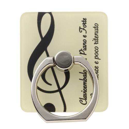 グラーヴェ スマホリング ※お取り寄せ商品 引き出物 記念品 音楽雑貨 音符 ピアノモチーフ ト音記号 ピアノ雑貨