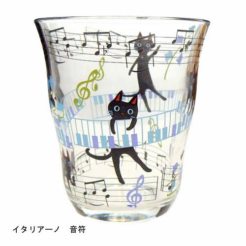 NEKOにゃ~ごグラス イタリア―ノ 音符 【音楽雑貨 ピアノ雑貨】 この商品はお取り寄せ商品です♪音符