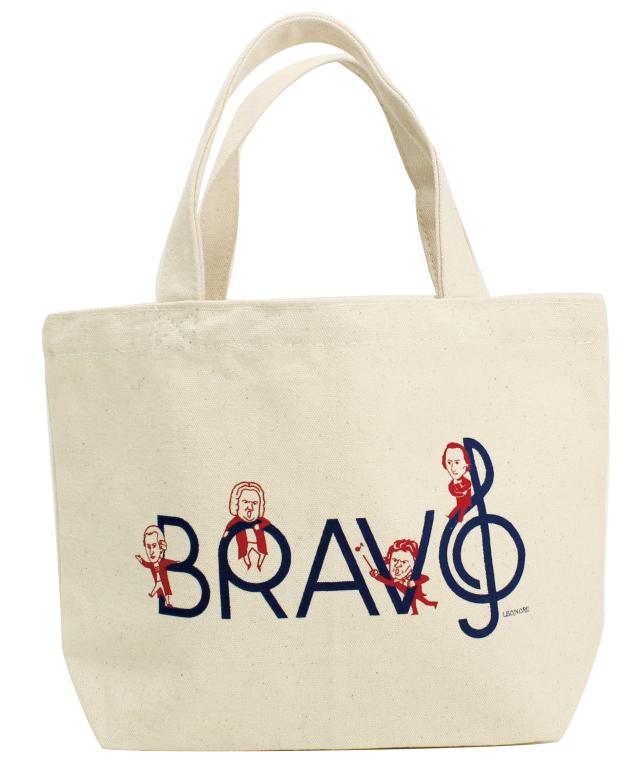 ブラボーミニバッグ ※お取り寄せ商品 引き出物 記念品 音楽雑貨 音符 ピアノモチーフ ト音記号 ピアノ雑貨