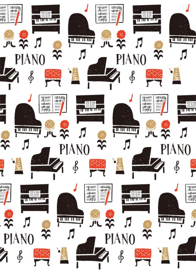 クリアファイル la la PIANO ※お取り寄せ商品 引き出物 記念品 音楽雑貨 音符 ピアノモチーフ ト音記号 ピアノ雑貨