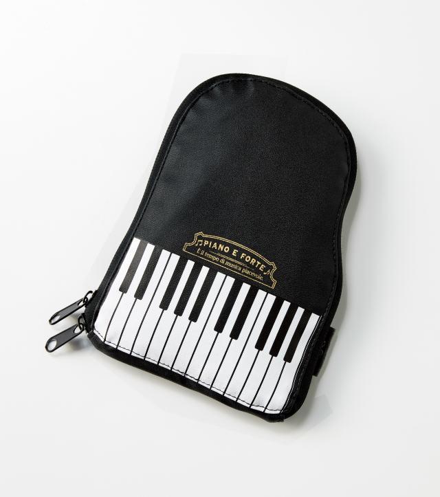 折りたたみトートバッグ piano e forte ※お取り寄せ商品 引き出物 記念品 音楽雑貨 音符 ピアノモチーフ ト音記号 ピアノ雑貨