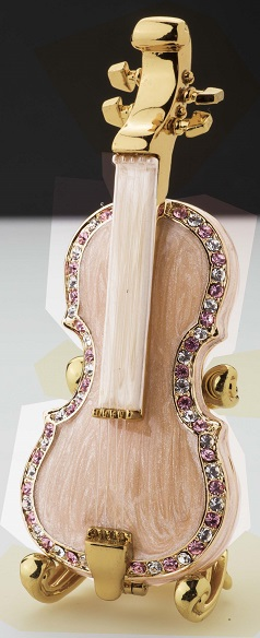 ピューターボックス バイオリン ※お取り寄せ商品 【音楽雑貨 音符・ピアノモチーフ】ト音記号 ピアノ雑貨