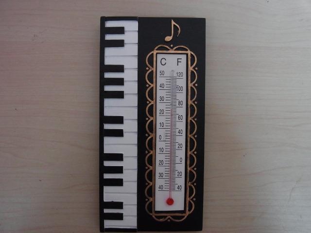 ピアノ温度計♪この商品はお取り寄せ商品です♪ピアノ発表会の記念品に最適【プレゼントに最適♪】音楽雑貨 音楽グッズ