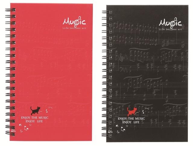 スパイラルノート♪この商品はお取り寄せ商品です♪【ピアノ発表会】音楽会 ブラスバンド 吹奏楽部の記念品に