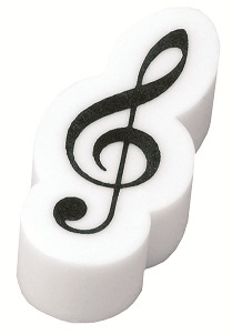 ト音記号立体消しゴム ホワイト♪この商品はお取り寄せ商品です♪【ピアノ発表会】音楽会 ブラスバンド 吹奏楽部の記念品に