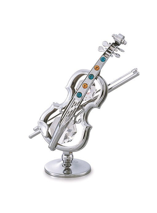 CRYSTOCRAFT バイオリン ※お取り寄せ商品 【音楽雑貨 音符・ピアノモチーフ】音符 ト音記号 ピアノ雑貨