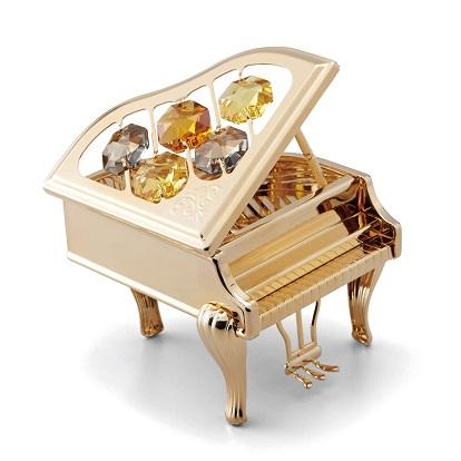 CRYSTOCRAFT ピアノゴールド ※お取り寄せ商品 【音楽雑貨 音符・ピアノモチーフ】ト音記号 ピアノ雑貨