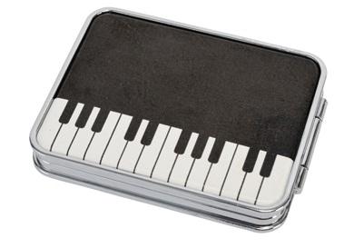 コンパクトミラー ※お取り寄せ商品 【音楽雑貨 音符・ピアノモチーフ】ト音記号 ピアノ雑貨