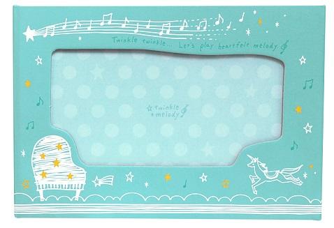 TW スタンドフォトアルバム ☆※お取り寄せ商品 【音楽雑貨 音符・ピアノモチーフ】ト音記号 ピアノ雑貨