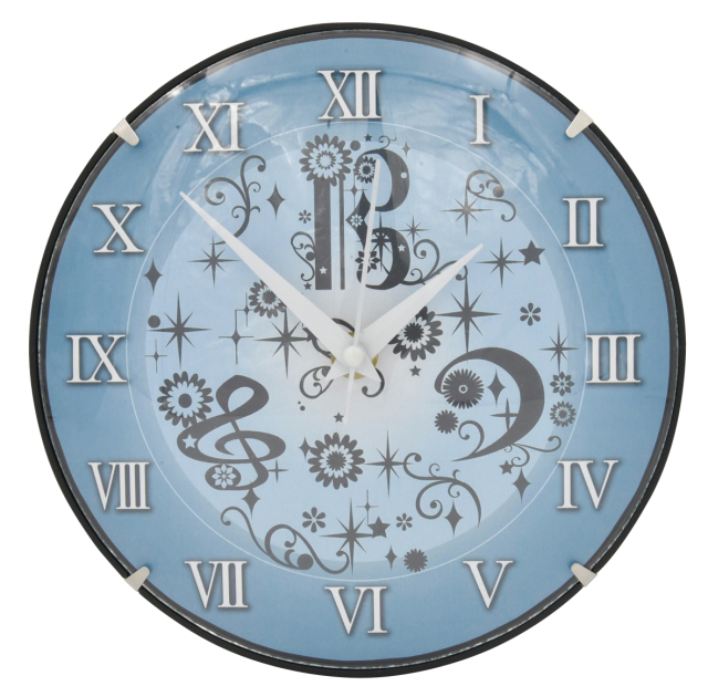 ガラスドーム時計 ※お取り寄せ商品 引き出物 記念品 音楽雑貨 音符 ピアノモチーフ ト音記号 ピアノ雑貨
