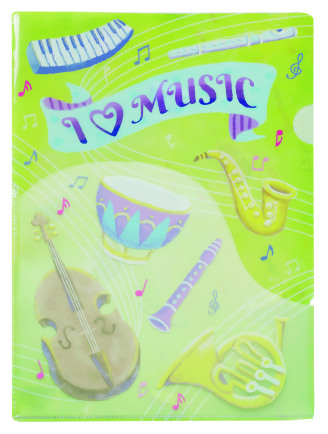 ILM ポケットファイル ※お取り寄せ商品 引き出物 記念品  【音楽雑貨 音符・ピアノモチーフ】ト音記号 ピアノ雑貨c