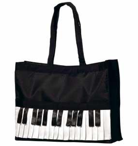 ピアノバッグ L ※お取り寄せ商品 【音楽雑貨 音符・ピアノモチーフ】ト音記号 ピアノ雑貨