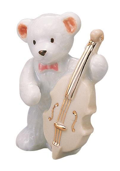 ベアー マスコット ホワイト コントラバス 楽器 【音楽雑貨 ピアノ雑貨】  この商品はお取り寄せ商品です♪音符 ピアノ 楽器 音楽雑貨
