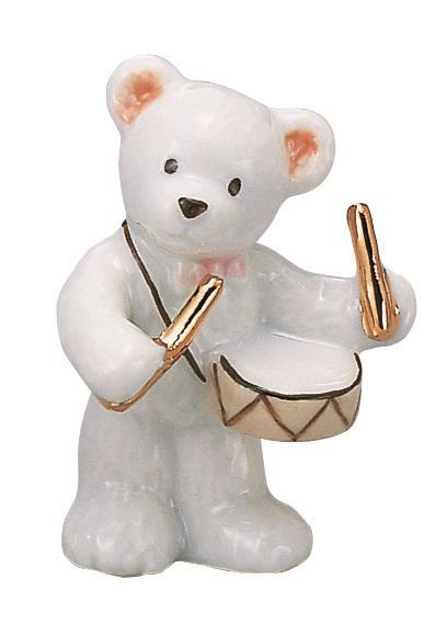 ベアー マスコット ホワイト ドラム 楽器 【音楽雑貨 ピアノ雑貨】 この商品はお取り寄せ商品です♪音符 ピアノ 楽器 音楽雑貨