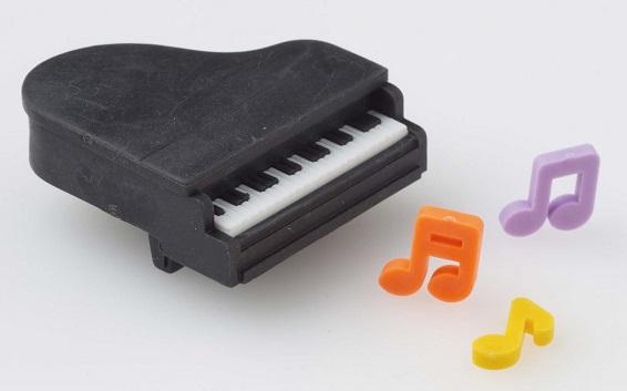 消しゴム ピアノ黒 ※お取り寄せ商品 【音楽雑貨 音符・ピアノモチーフ】ト音記号 ピアノ雑貨