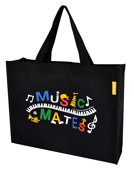 MUSIC MATES レッスンバッグ ☆※お取り寄せ商品 【音楽雑貨 音符・ピアノモチーフ】ト音記号 ピアノ雑貨