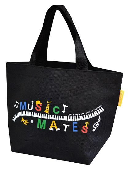 MUSIC MATES ミニトートバッグ ☆※お取り寄せ商品 【音楽雑貨 音符・ピアノモチーフ】ト音記号 ピアノ雑貨