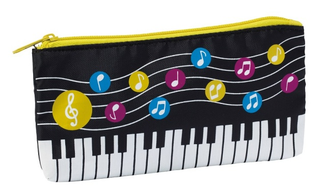 水玉音符 ペンケース ☆※お取り寄せ商品 【音楽雑貨 音符・ピアノモチーフ】ト音記号 ピアノ雑貨