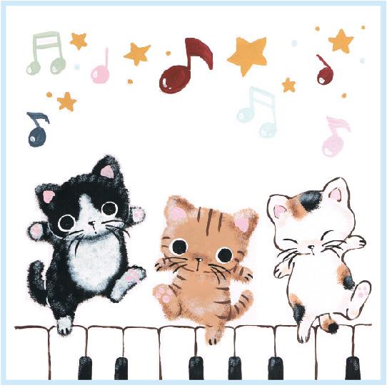 プリントタオル ※お取り寄せ商品 引き出物 記念品 音楽雑貨 音符 ピアノモチーフ ト音記号 ピアノ雑貨