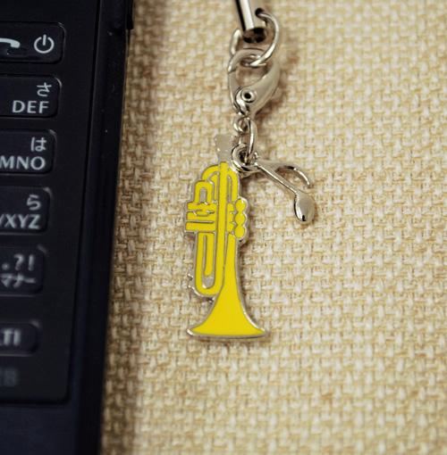 トランペット 携帯ストラップ♪♪【小物・携帯ストラップ-音楽雑貨】