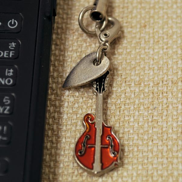 マンドリン 携帯ストラップ♪♪【弦楽器・携帯ストラップ-音楽雑貨】