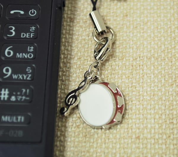 タンブリン 携帯ストラップ♪♪【打楽器・携帯ストラップ-音楽雑貨】