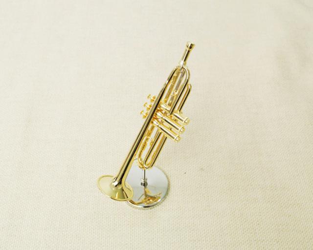 ミニチュア楽器!トランペット 1/6スケール(ゴールド)♪この商品はお取り寄せ商品です♪♪【楽器-音楽雑貨】