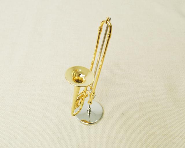 ミニチュア楽器!トロンボーン 1/6 スケール(ゴールド)♪この商品はお取り寄せ商品です♪♪【楽器-音楽雑貨】
