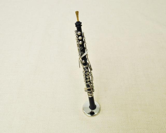 ミニチュア楽器!オーボエ 1/6 スケール(黒)♪この商品はお取り寄せ商品です♪♪【楽器-音楽雑貨】