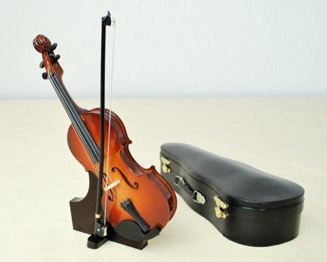 ミニチュア楽器!バイオリン 23cmサイズ♪この商品はお取り寄せ商品です♪♪【楽器-音楽雑貨】