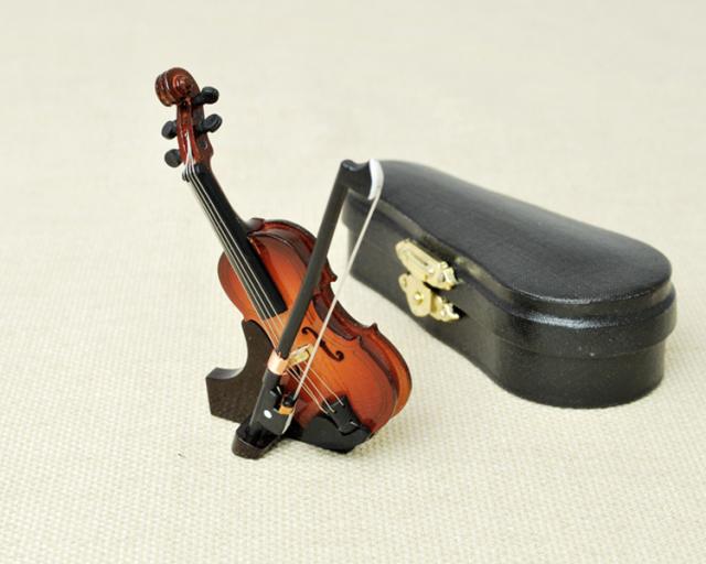 ミニチュア楽器!バイオリン 7cmサイズ♪この商品はお取り寄せ商品です♪【楽器-音楽雑貨】