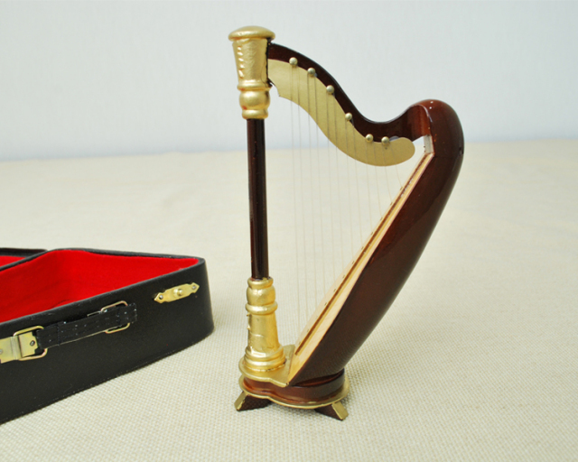 ミニチュア楽器!ハープ 15cmサイズ♪※この商品はお取り寄せ商品です♪♪【楽器-音楽雑貨】