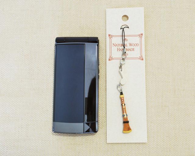 楽器携帯ストラップ クラリネット♪♪【楽器ストラップ-音楽雑貨】
