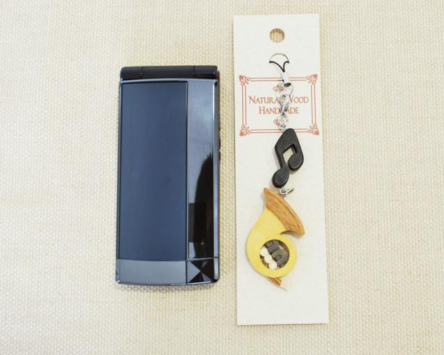 楽器携帯ストラップ ホルン♪♪【楽器ストラップ-音楽雑貨】