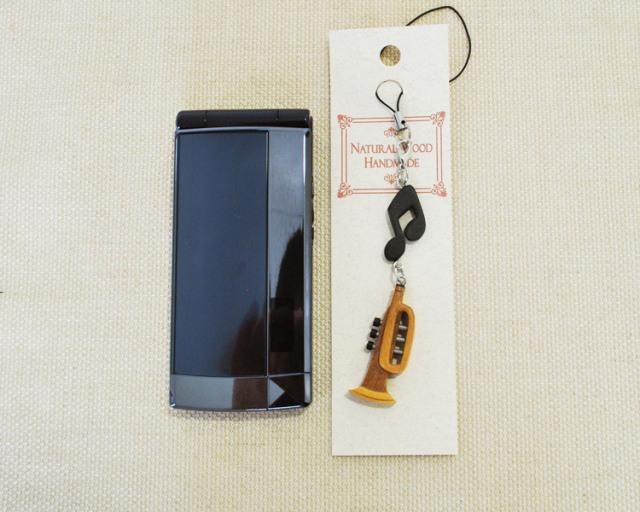 楽器携帯ストラップ トランペット♪♪【楽器ストラップ-音楽雑貨】