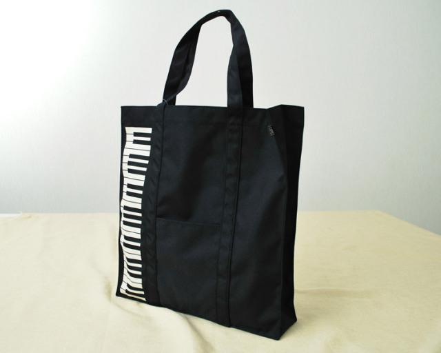 レッスンバッグ スタンダードモデル♪この商品はお取り寄せ商品です♪ 鍵盤 ブラック♪♪【ピアノレッスンバッグ-音楽雑貨】