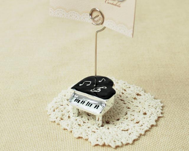 カードやメモを可愛くはさめるピアノカードスタンド♪この商品はお取り寄せ商品です♪【ピアノ・小物-音楽雑貨】