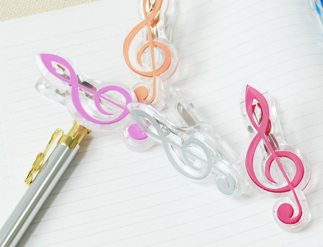 5色から選べる ト音記号 クリップ ♪お取り寄せ商品です♪【小物 音楽雑貨】 音楽雑貨 音楽グッズ 記念品 卒業記念 楽器 吹奏楽