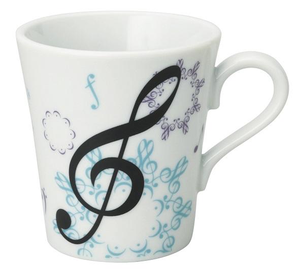 マグカップ カレイドスコープ ※お取り寄せ商品 【音楽雑貨 音符・ピアノモチーフ】ト音記号 ピアノ雑貨