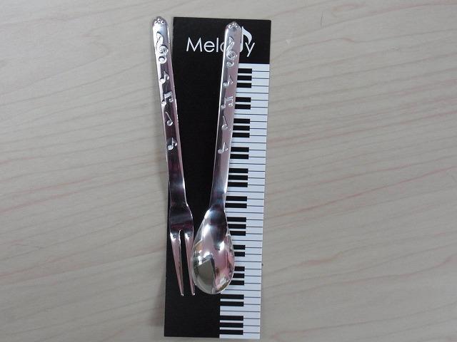音符スプーン&フォーク♪この商品はお取り寄せ商品です♪♪【音符・小物-音楽雑貨】