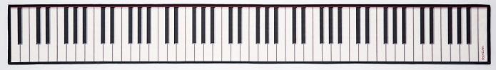 鍵盤カバークロス ※お取り寄せ商品 【音楽雑貨 音符・ピアノモチーフ】ト音記号 ピアノ雑貨