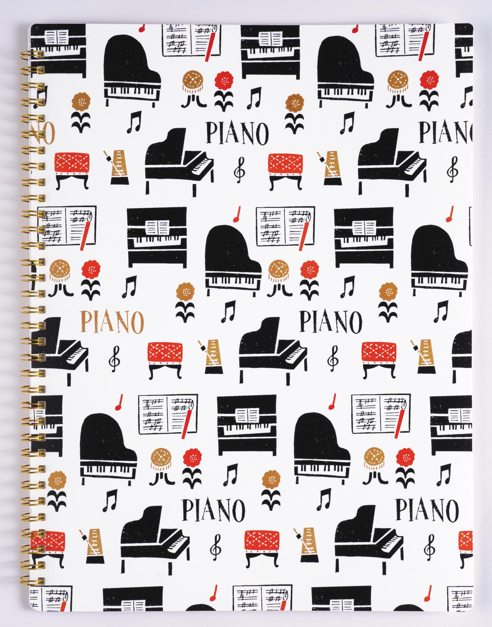 ポケットファイル la la PIANO ※お取り寄せ商品 引き出物 記念品 音楽雑貨 音符 ピアノモチーフ ト音記号 ピアノ雑貨