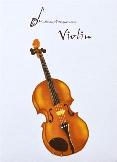パスケースにもなるカードホルダー バイオリン ※お取り寄せ商品 【音楽雑貨 音符・ピアノモチーフ】ト音記号 ピアノ雑貨