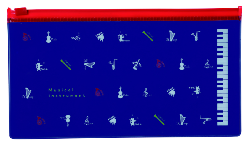 MI PVCペンケース ※お取り寄せ商品 引き出物 記念品  【音楽雑貨 音符・ピアノモチーフ】ト音記号 ピアノ雑貨c