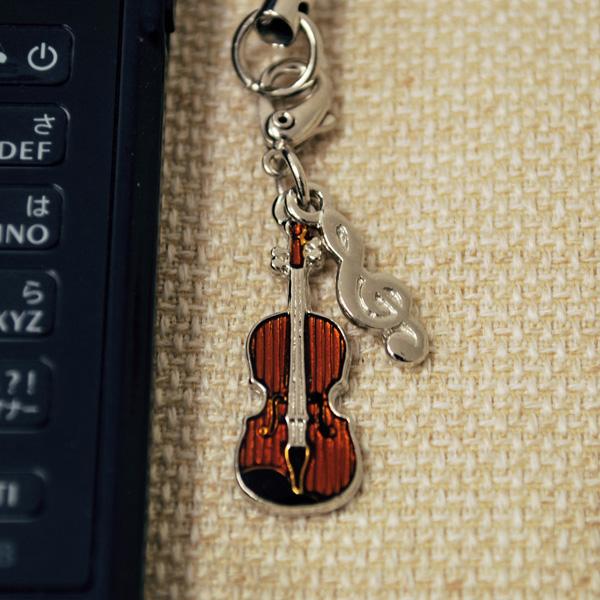 バイオリン 携帯ストラップ♪♪【弦楽器・携帯ストラップ-音楽雑貨】